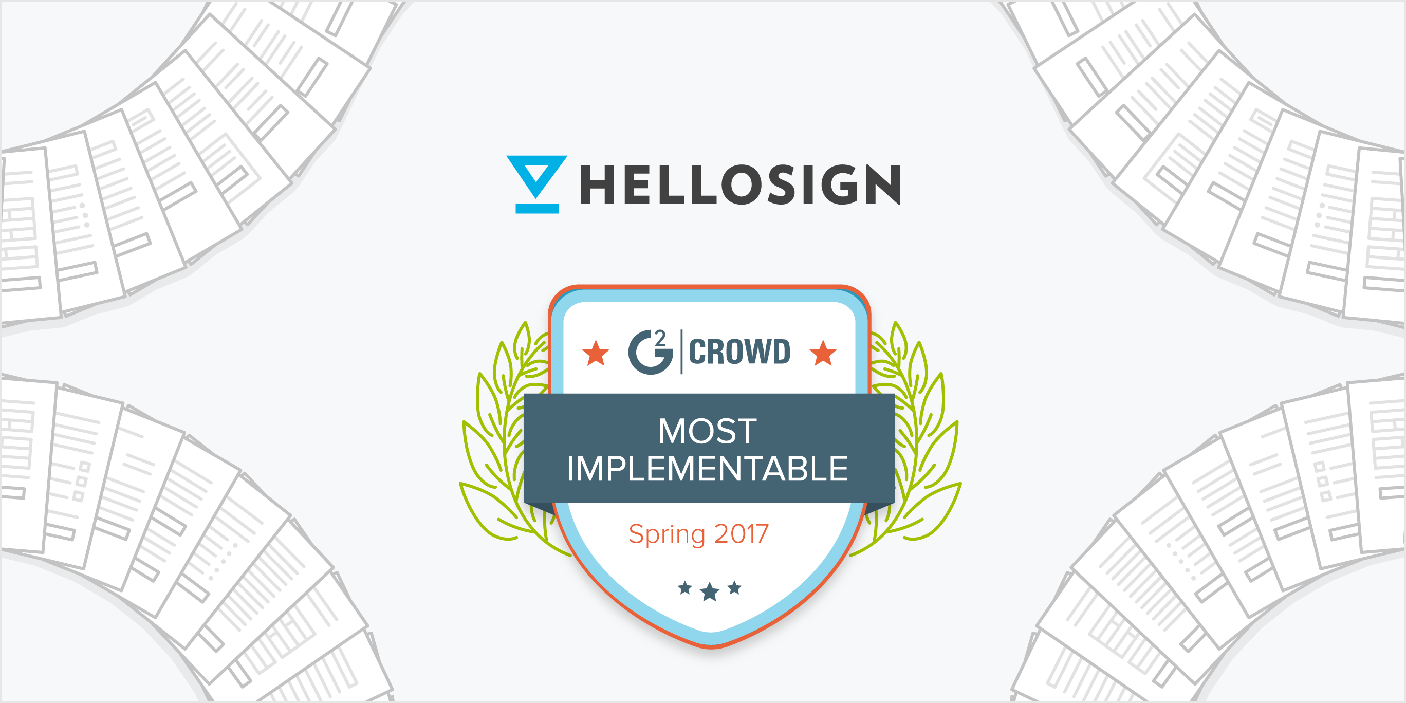 HelloSign Voted #1 for Ease of Implementation on G2 Crowd